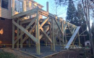 Vartanian Construction screened porch during
