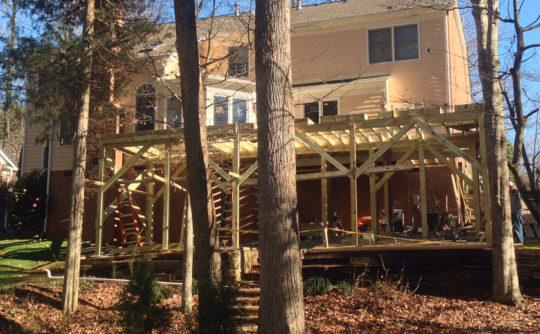 Vartanian Construction screened porch during2
