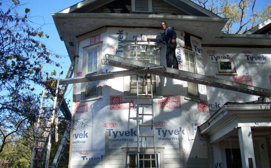 Vartanian Construction siding house during2