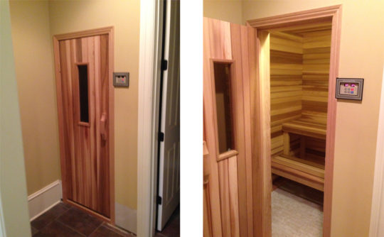 Vartanian Construction sauna after