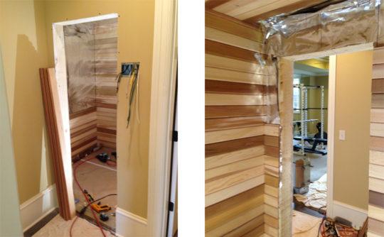 Vartanian Construction sauna before